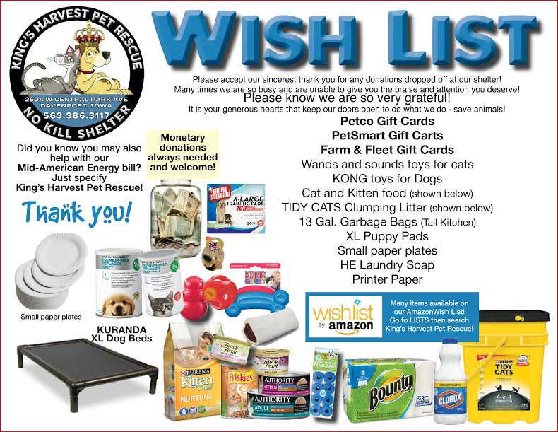 kings harvest wish list